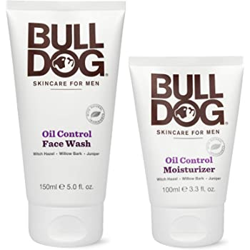 Bulldog Mens Skincare and Grooming Oil Control Starter Kit with Oil Control Moisturizer and Oil Control Face Wash