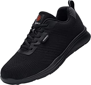 DYKHMILY Waterproof Trainers Men Women Steel Toe Cap Safety Shoes Lightweight Breathable Work Trainers Puncture Proof Non ...
