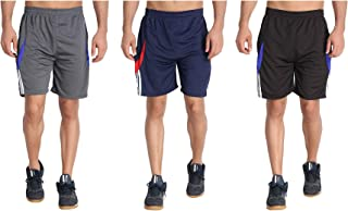 M.R.D. Sports Shorts for Men and Women with Zipper Pockets (Free Size Waist 28 to 34 Inch)