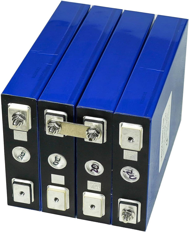 VARADOMO Nuevo 3.2v 100ah lifepo4 Grado De Batería A 12v 24v 48v 100v Paquete De Batería Recargable para RV Sistema De Almacenamiento De EnergÍa Solar,4pcs