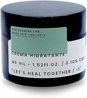 THE BEEMINE LAB Crema Facial HIDRATANTE CBD Y Miel 45ml, Blanco, 40 ml
