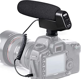 Cardioid On-Camera Shotgun Microphone, BOYA BY-VM600 DSLR Condenser Microphone Video Mic for Canon Nikon Cameras Sony Pentax Camcorder Professional Interview Studio Recording YouTube Christmas