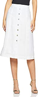 Jag Women's Belinda Linen Skirt, White