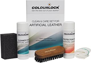 COLOURLOCK Cleaning & Conditioner kit for faux leather - ideal for cleaning & protecting car dash interior trim and other ...