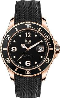 Ice-Watch ICE Steel Black Rose-Gold, Orologio Nero con Cinturino in Silicone