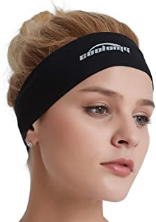 COOLOMG Solid Moisture Wicking Stretchy Non-Slip Headband for Sports Yoga  Running Men Women 5041f43675c