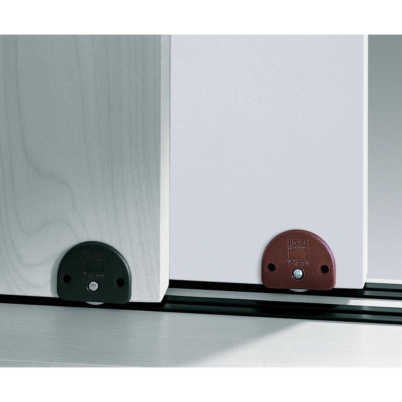 Lot de 2 roulettes GedoTec® pour une porte de meuble coulissante de moins de 15 kg - Modèle Slide Line 55 - En plastique - Coloris : marron: Amazon.es: Bricolaje y herramientas