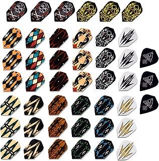 Juego Recreativo Interior 20 Plumas de Dardos con 40 Protectores de Flechas B Baosity Juego de Accesorio para Juego de Dardos