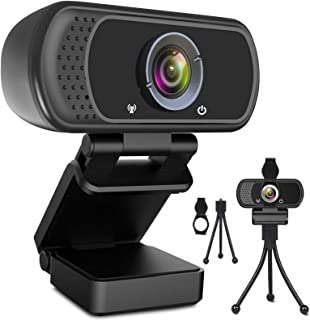 Webcam HD 1080p Web Camera, USB PC Computer Webcam with Microphone, Laptop Desktop Full HD Camera Video Webcam 110 Degree ...