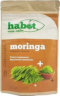 Habet - Moringa Superfood Powder, Raw Premium Moringa Leaf Oleifera, All Natural Energy Boost for Smoothies and Green Juices, Superalimentos 8 oz (25 Servings)