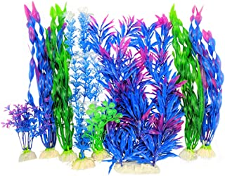 Otterly Pets Plastic Plants for Fish Tank Decorations Large Artificial Aquarium Decor and..