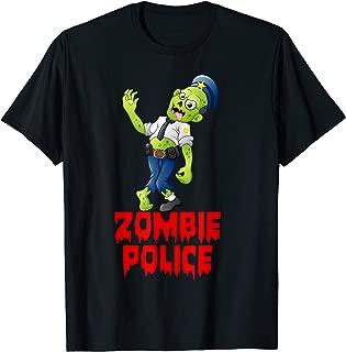 Halloween Police Officer Zombie Funny Cop Joke T-Shirt