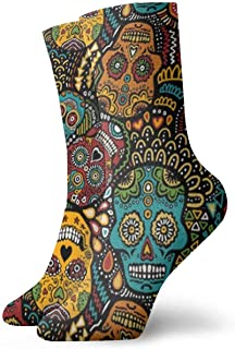 Hombres Mujeres Personalidad Lindo Nuevo Mexicano Calaveras de azúcar Calcetines Calcetines deportivos creativos deportivos ocasionales