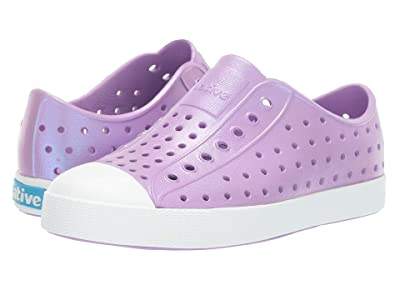Native Kids Shoes Jefferson Iridescent (Little Kid) (Lavender Purple/Shell White/Galaxy) Girls Shoes