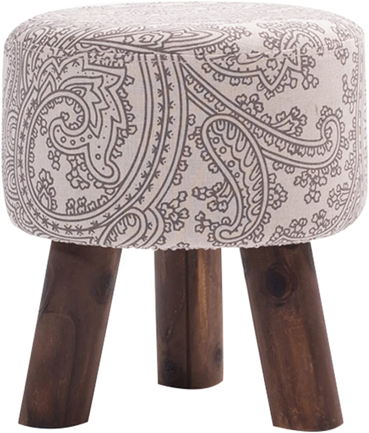 shoes Bench Small Stool Living Room Footstool Cloth Block Sofa Stool Folding Stool Solid Wood shoes Bench Yoga Stool Wearing a shoes Bench Multipurpose Cotton Cloth Versatile Hallway Furniture