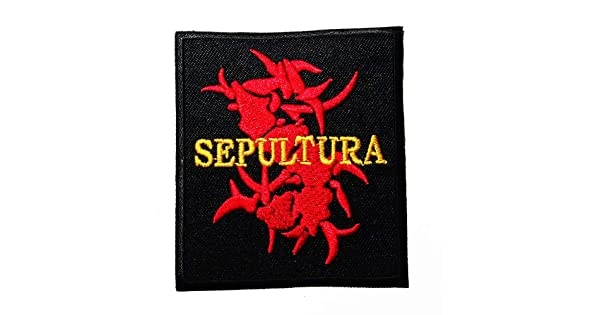 MUSIC S Brazilian heavy metal band Groove metal thrash metal Death metal Alternative metal Black band music style logo patch Embroidered Sew Iron On Patches Badge Bags Hat Jeans Shoes T-Shirt Applique