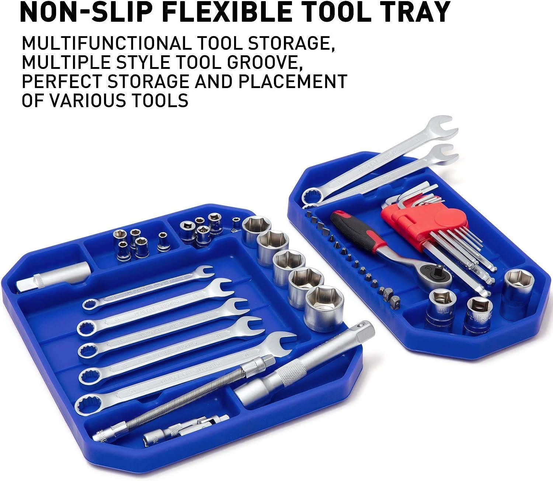 Tool Holder Tool Mat Tool Storage Grip Mats Aocoom 3pcs Large Non-Slip Flexible Tool Tray Orange Tool Organizer No Magnets