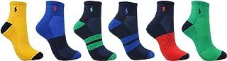 Polo Ralph Lauren Men's Athletic 6 Pack Quarter Sock