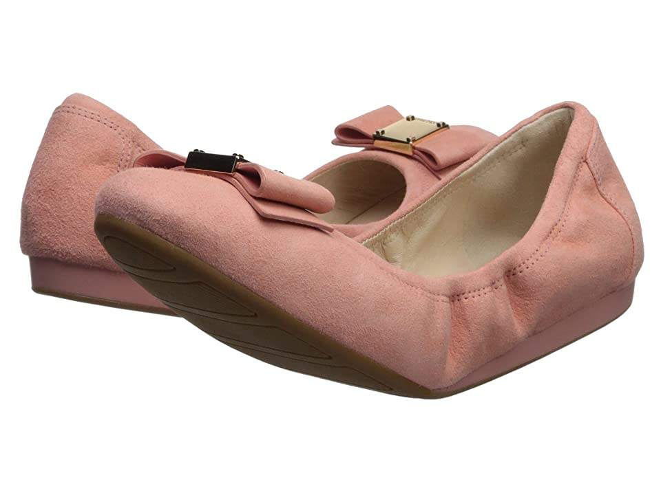Cole Haan Tali Bow Ballet (Coral Almond Suede) Women's Slip on Shoes