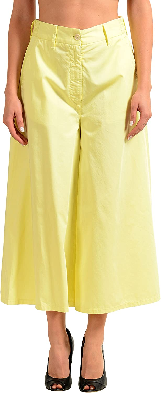 Maison Margiela Yellow Women's Cropped Casual Pants US M IT 42