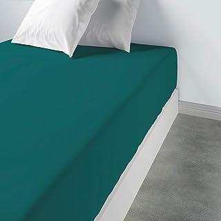 Les Ateliers du Linge – Drap Housse à Larges Bonnets élastiqués - Tissu Lavable 100% Coton – Couleur Unie