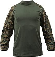 Rothco Military NYCO FR Fire Retardant Combat Shirt, Woodland Digital Camo, S