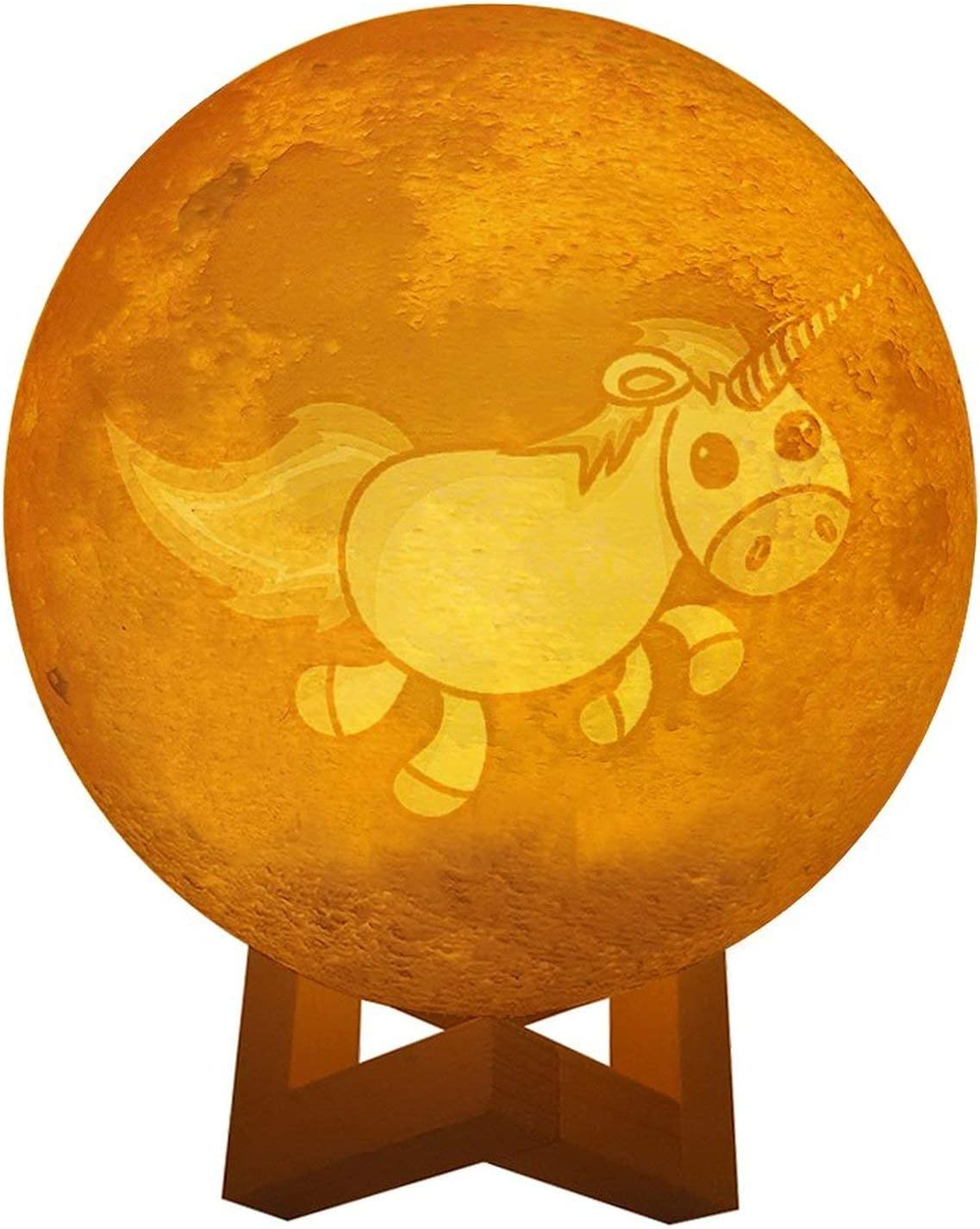 Animer and price revision Unicorn 2 3D Printed Moon Light Lamp 3 Ranking TOP5 Selectable Dimmable Color