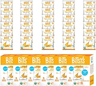 Bitsy's Organic Cheddar Crackers | Tree Nut and Peanut Free | Vitamin and Mineral Filled Snacks for Kids - 6 Pack