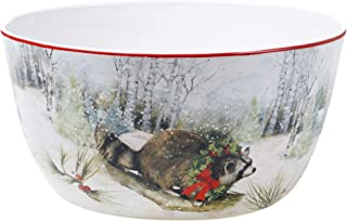 Certified International Winter Forest Deep Bowl, Multicolored