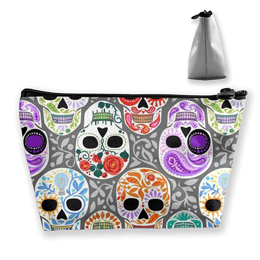 Holderbee Watercolor Skull Calaveras Cosmetic Makeup Bag/Pouch/Clutch Travel Case Organizer Storage Bag for Women?ˉs Accessories Toiletry Beauty,Skincare Travel Accessory apmkemnolxydd189