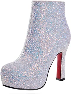 KemeKiss Women Fashion Platform Boots High Heels Autumn Ankle Boots