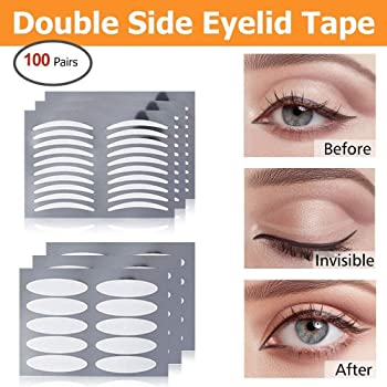 Amazon Com Double Sided Eyelid Tapes Hailicare Invisible Double Eyelid Fiber Sticker Instant Eyelid Lift 50 Pairs Slim 50 Pairs Wide Eyelid Enhancer For Hooded Droopy Uneven Mono Eyelids Beauty