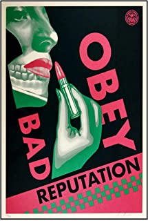 Posters Canvas Prints Bad Obey Reputation Women Lipstick Poster Wall Art Canvas Painting For Living Room Decor -50x70 cm N...