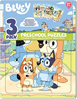 Bluey 3 Pack Preschool Puzzle