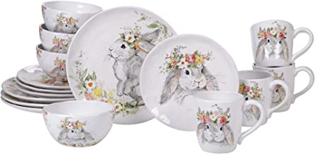 Certified International Sweet Bunny 16 Piece Dinnerware Set, Service for 4, Multicolored