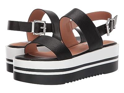Steve Madden Adora Wedge Sandals (Black) Women