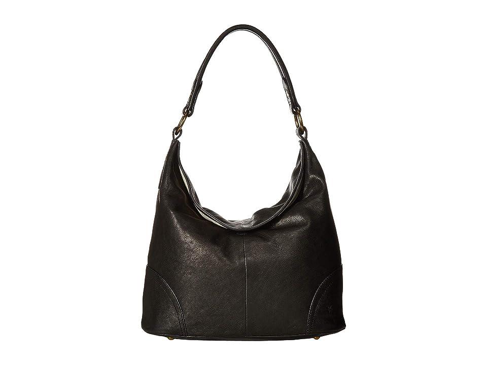Frye Madison Hobo (Black Soft Vintage Leather) Hobo Handbags