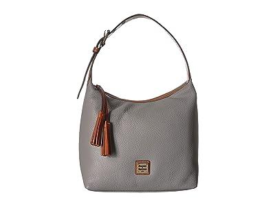 Dooney & Bourke Pebble Paige Sac (Stone/Tan Trim) Handbags
