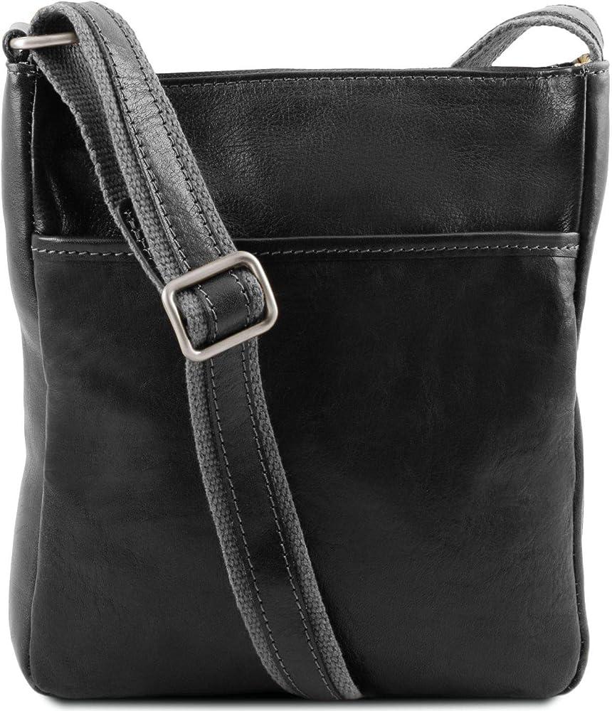 Tuscany leather jason borsello a tracolla da uomo in pelle 1300_1_2