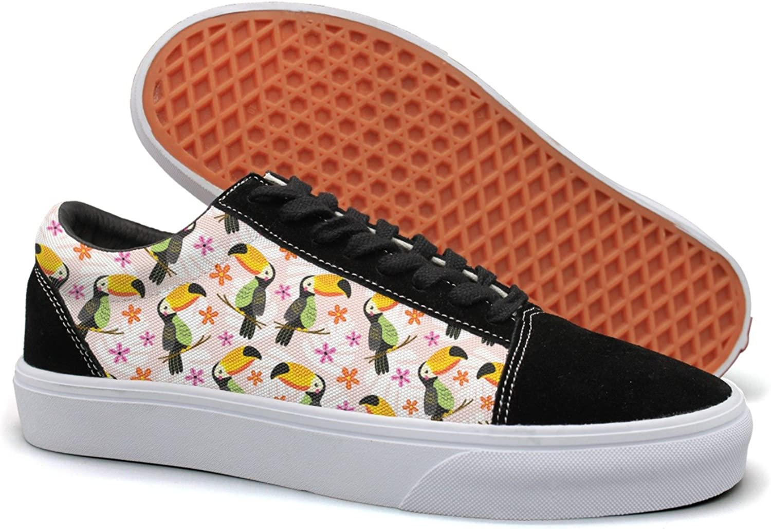 Hjkggd fgfds Casual Pet Toucan with Flowers Women Canvas shoes