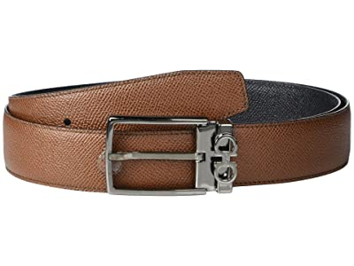 Salvatore Ferragamo Adjustable/Reversible Belt 67A037 (Radica/Black) Men