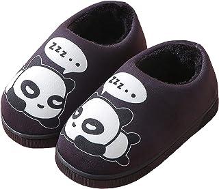 Gaatpot Femme Hommes Chaudes Pantoufles Automne Hiver Enfant Fille Mignon Panda Coton Chaussons Garcon Slip-on Slippers Ch...