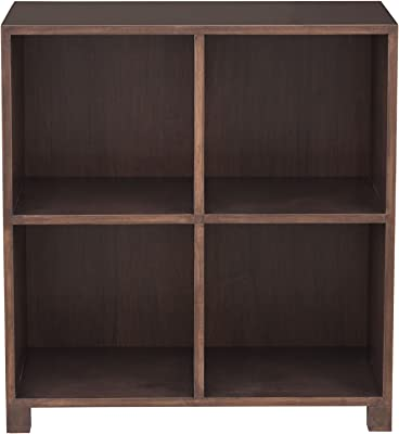 Urbangreen 2 Tier Media Record Cabinet in Maple, Toffee