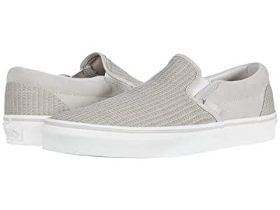 Vans Classic Slip-Ontm ((Multi Woven) Rainy Day/Snow White) Skate Shoes