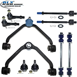 10 Pcs Front Suspension Kit-2 Upper Control Arm 2 Ball Joint 2 Sway Bar 4 Outer Inner Tie Rod End Compatible with Ford Explorer Ranger Mazda B3000 B4000 98-01, Mazda B2500 1999-2001 Torsion Bar