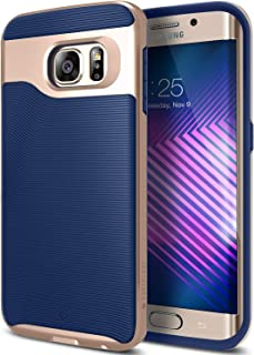 Caseology Wavelength Series Textured Pattern Grip Cover Case for Samsung Galaxy S6 Edge - Standard Packaging - Navy Blue