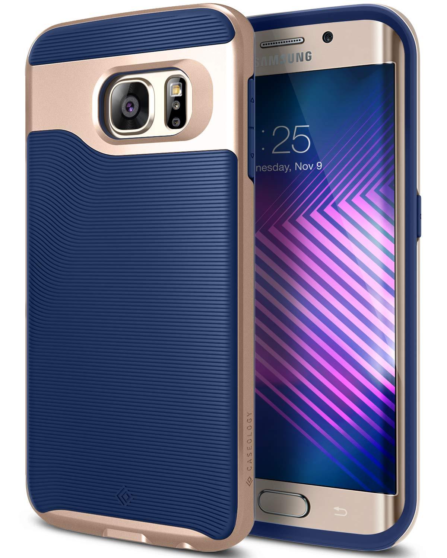 Caseology Funda Galaxy S6 Edge, [Serie Wavelength] Fina Cubierta Protectora de Doble Capa con sujecion Texturizada [Azul Marino: Amazon.es: Electrónica