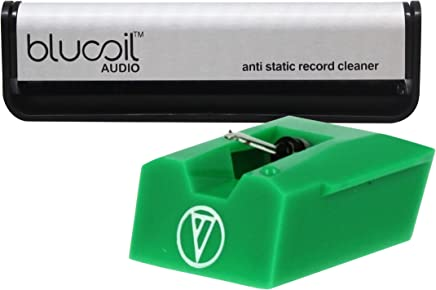 Audio Technica ATN95E Replacement Stylus for AT95E Bundle with Blucoil Audio Carbon Anti-Static Fiber Vinyl LP Record Cleaning Brush