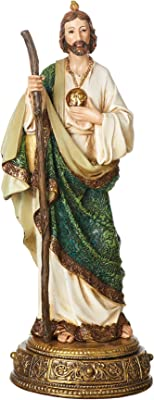 """Joseph's Studio by Roman - St. Jude Figure on Base, Heavenly Protectors, Renaissance Collection, 10.75"""" H, Resin and Stone, Religious Gift, Decoration"""