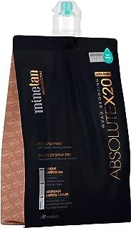 MineTan Spray Tan Solution - Absolute X20 Pro Spray Mist - Ultra Dark Salon Professional 1 Hour Express Tan, 33.8 fl oz